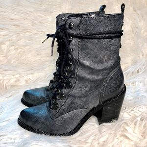Luxury Rebel Military lace up boots